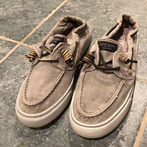 Gray Sperry top-sider's size 7.5